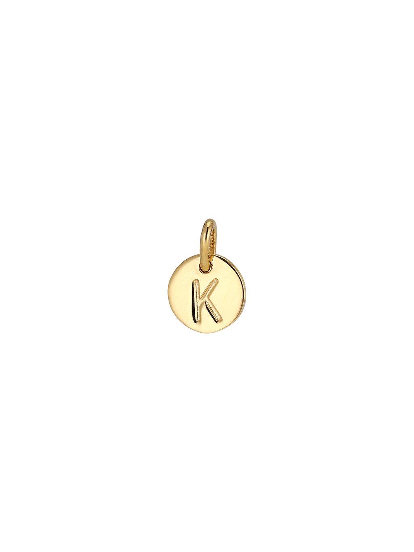 """Přívěsek Symphony pozlacený 18kt zlatem  """"K"""""""