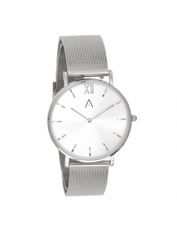 Stříbrné hodinky s ocelovým páskem