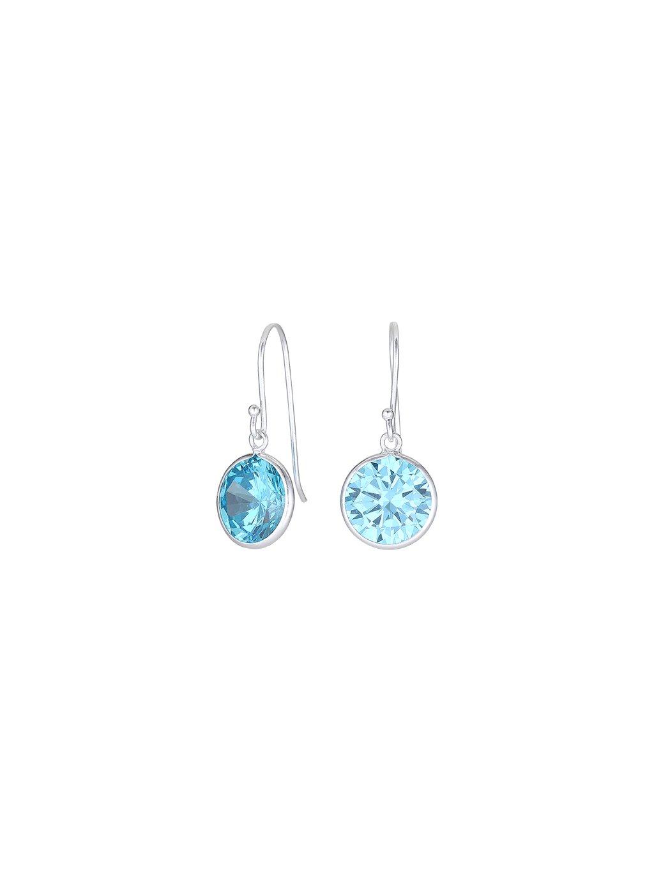 Stříbrné Harmony náušnice s modrým zirkonem