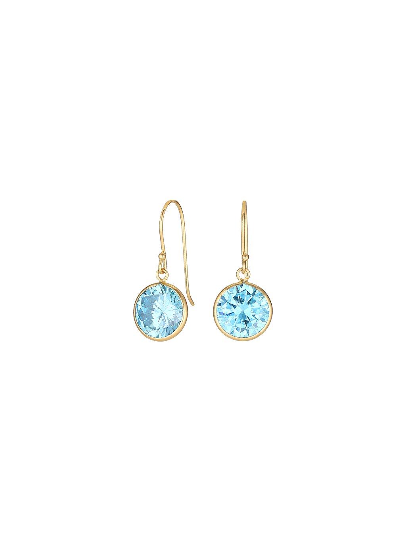 Náušnice Harmony pozlacené 18kt zlatem s modrým zirkonem