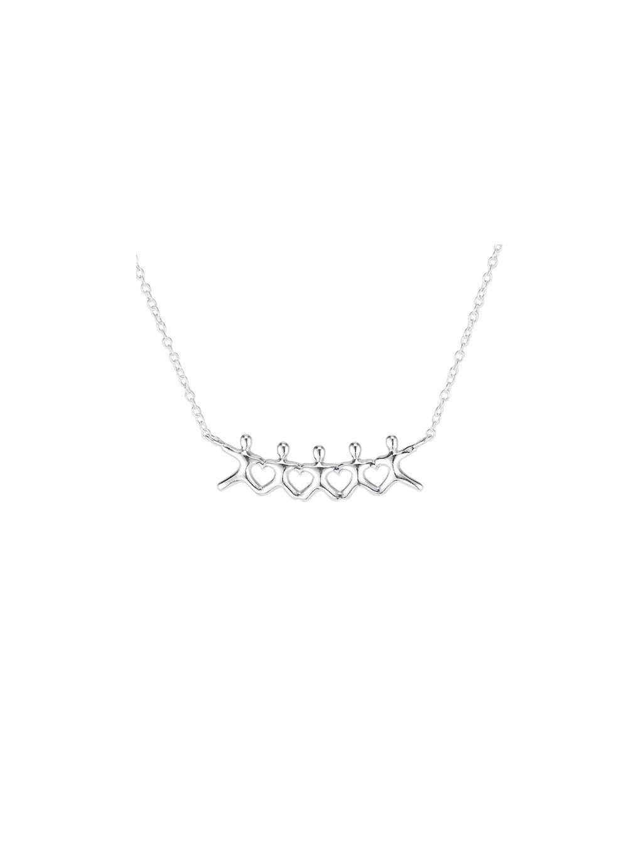 Stříbrný Family náhrdelník
