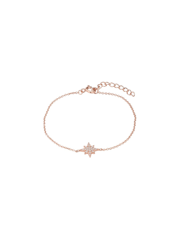 Náramek Galaxy růžově pozlacený 18kt zlatem