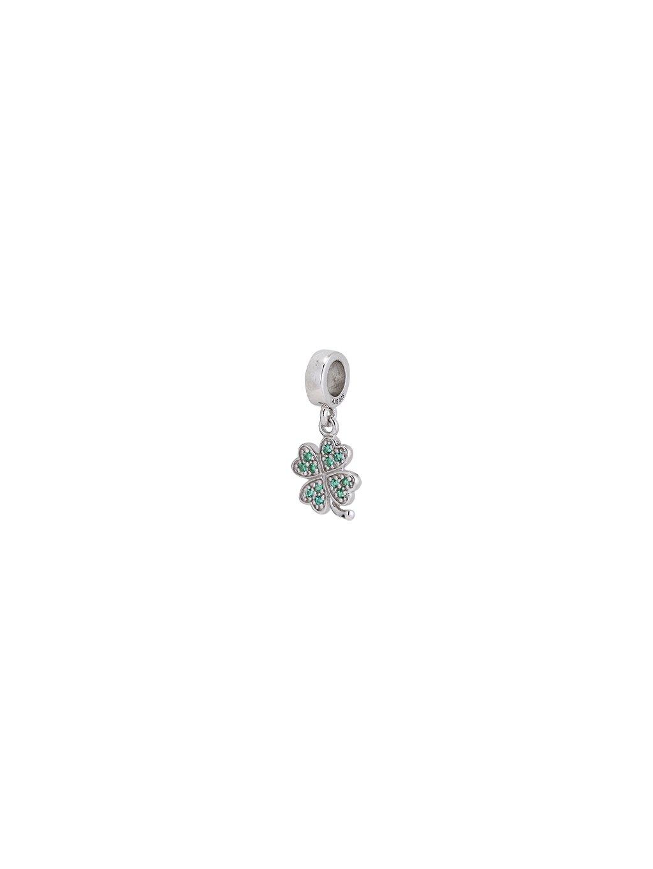 Stříbrný Spirit přívěsek zelený čtyřlístek