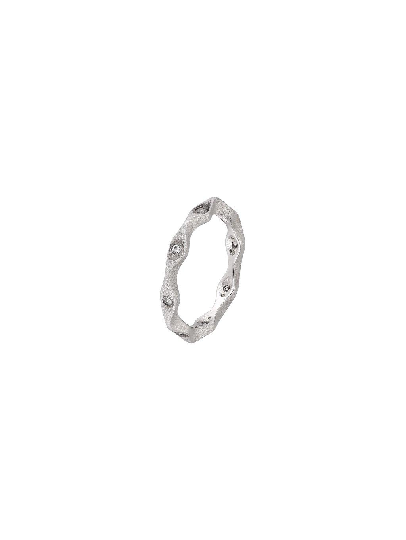 Stříbrný Eternity prsten s patinou a zirkony