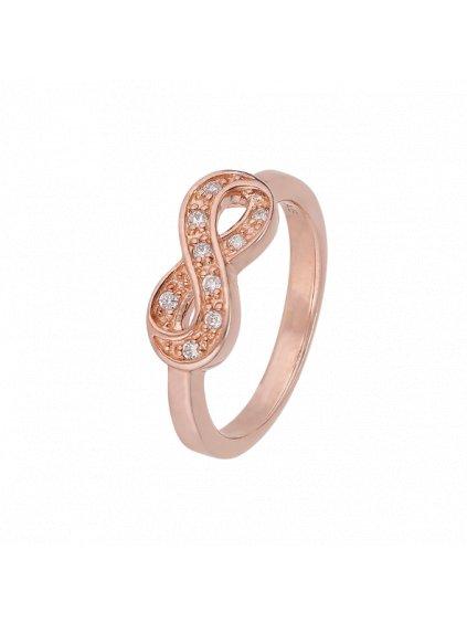 Prsten  Infinity pozlacený 18kt růžovým zlatem