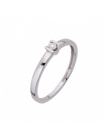 Stříbrný Forever Diamonds prsten s Diamantem
