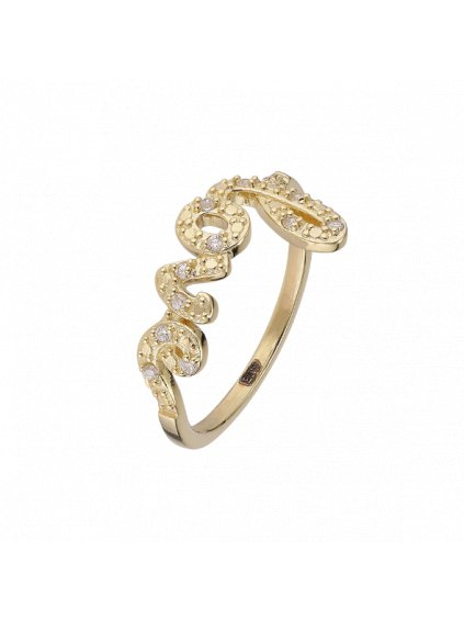 Prsten Pure Love pozlacený 18kt zlatem