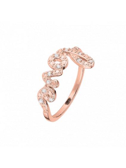 Prsten  Pure Love pozlacený 18kt růžovým zlatem