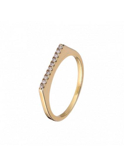 Prsten Fire pozlacený 18kt zlatem