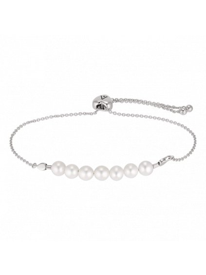 Stříbrný náramek s perlou