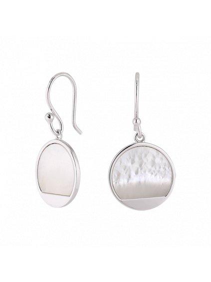 Stříbrné Harmony náušnice s perletí