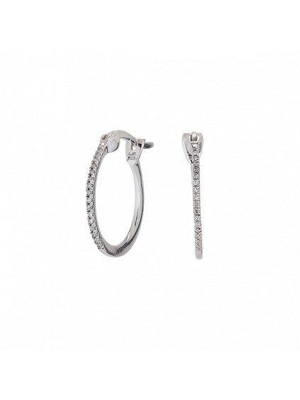 Stříbrné Forever Diamonds náušnice s Diamantem