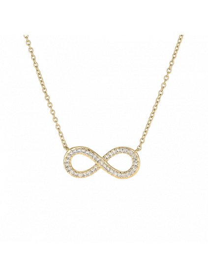 Náhrdelník Infinity pozlacený 18kt zlatem