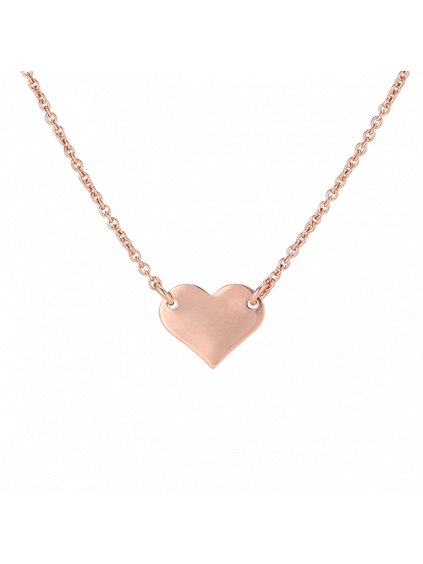 Náhrdelník Pure Love pozlacený 18kt růžovým zlatem