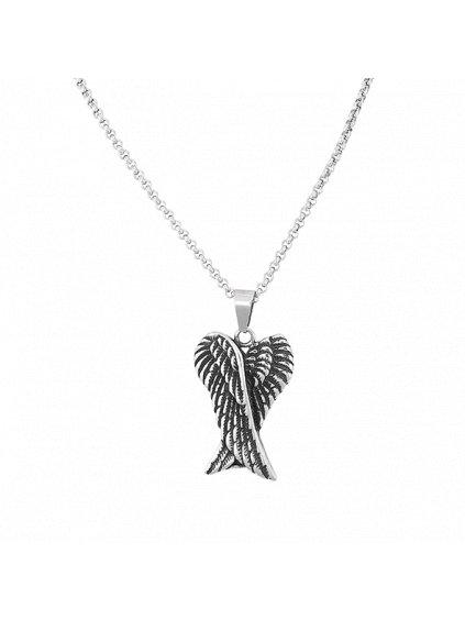 Pánský náhrdelník s andělskými křídly