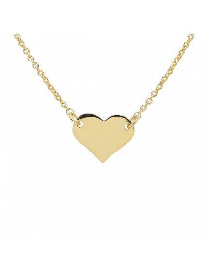 Náhrdelník Pure Love pozlacený 18kt zlatem