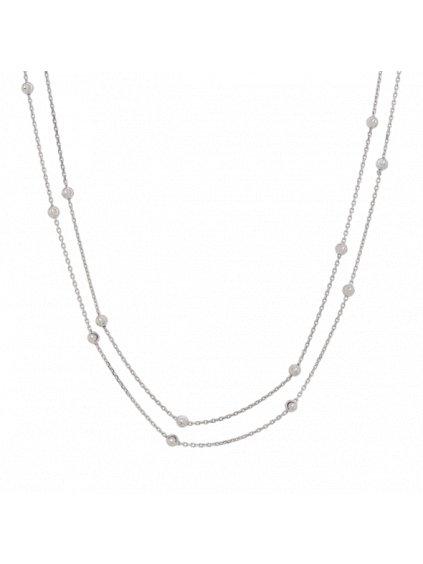 Stříbrný Eternity náhrdelník