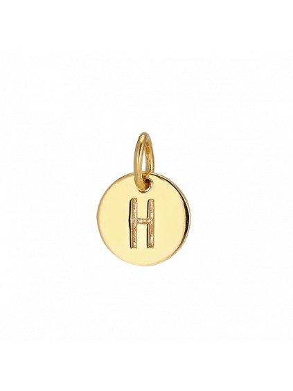 """Přívěsek Symphony pozlacený 18kt zlatem   """"H"""""""