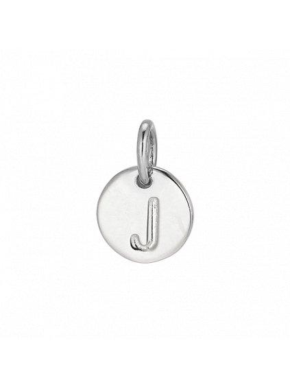"""Stříbrný Symphony přívěsek   """"J"""""""