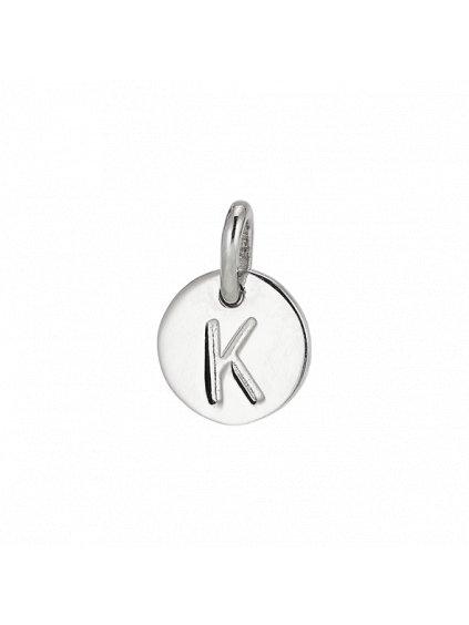 """Stříbrný Symphony přívěsek   """"K"""""""