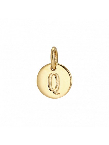 """Přívěsek Symphony pozlacený 18kt zlatem  """"Q"""""""
