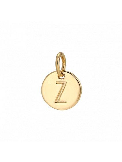"""Přívěsek Symphony pozlacený 18kt zlatem  """"Z"""""""
