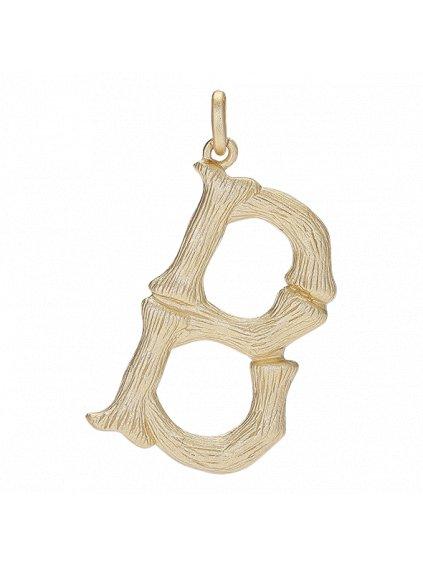 Přívěsek Bamboo pozlacený 18kt zlatem