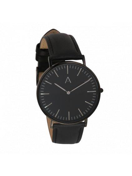 Klasické černé hodinky