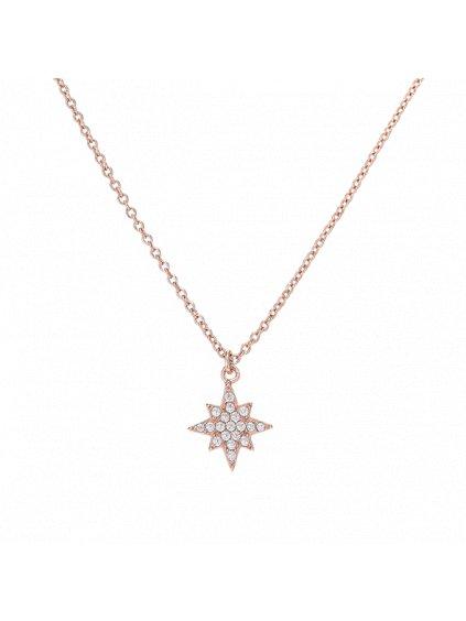 Náhrdelník Galaxy pozlacený 18kt růžovým zlatem