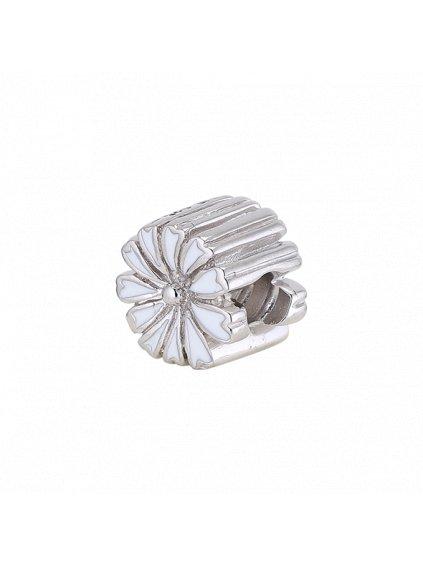 Stříbrný Spirit přívěsek kytička bílá