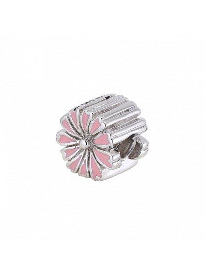 Stříbrný Spirit přívěsek kytička růžová