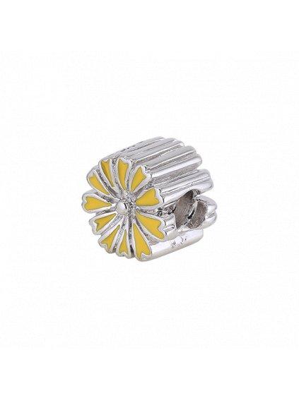 Stříbrný Spirit přívěsek kytička žlutá
