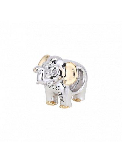 Spirit přívěsek slon pozlacený 18 kt. Zlatem