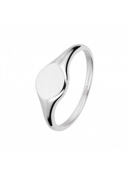 Simple Signet prsten stříbrný (Material Sterlingové Stříbro 925/1000, Velikost cm XS |EU| obvod 49 - 50 mm)
