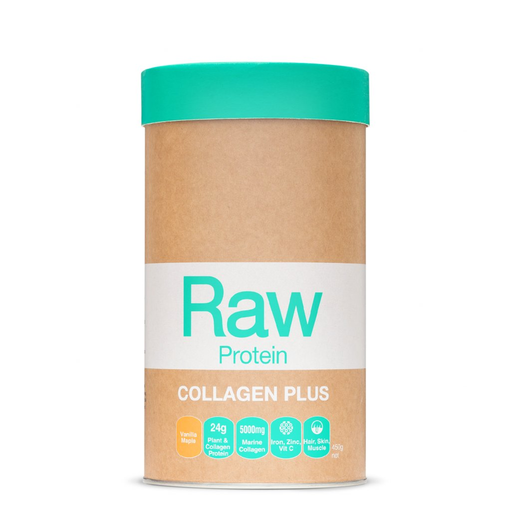 Raw Protein Collagen Plus Maple Vanilla 450g FRONT WEB