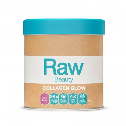 Raw Beauty Collagen Glow Wild Berry 200g FRONT WEB