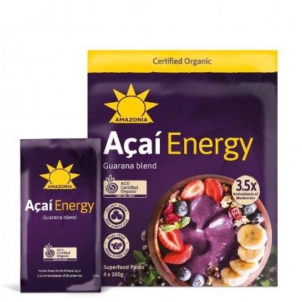 Acai Energy Pouch+Sachet 4x100g FRONT WEB