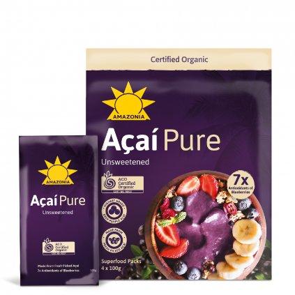 Acai Pure Pouch+Sachet 4x100g FRONT WEB