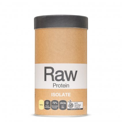 Raw Protein Isolate Vanilla 500g FRONT WEB