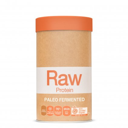 Raw Protein Paleo Fermented Salted caramel 500g FRONT WEB