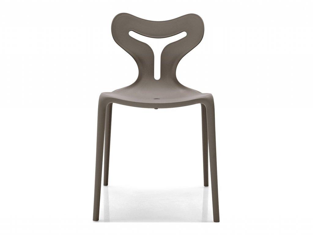 Stohovatelná židle Area51, plast, CB1042 (Podnoží materiál shodný se sedákem, Sedák Polypropylen matný - Optic White (bílá))