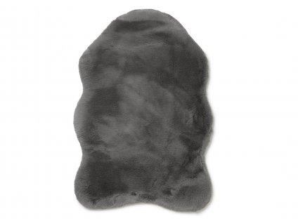 fluffy rug grey 01