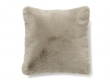 fluffy taupe polštář 01