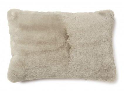 fluffy taupe polštář 60x40 01
