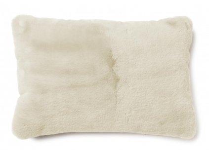 fluffy beige polštář 60x40 01