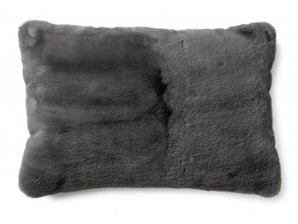 fluffy grey polštář 60x40 01
