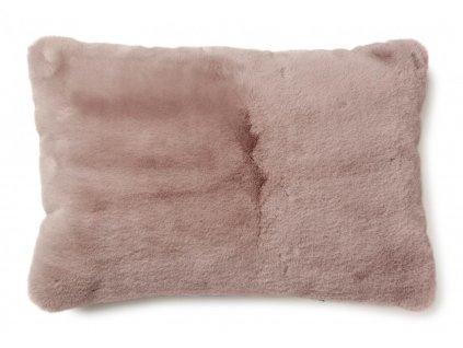 fluffy pink polštář 60x40 01