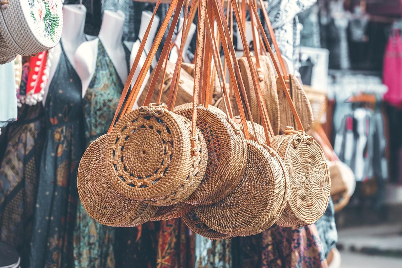 Ratanová kabelka z Bali