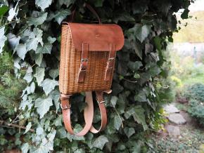 Proutěný batoh Lili hnědý