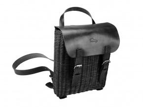Proutěný batoh černý 1